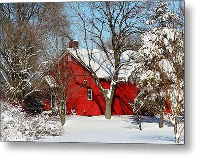 The Old Red House Metal Print by Heather Allen