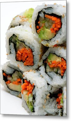 Vegetable Sushi Metal Print by Amy Cicconi