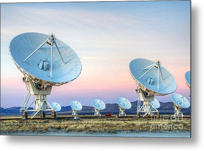 Very Large Array Of Radio Telescopes  Metal Print by Bob Christopher