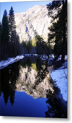 Winter Reflection Metal Print by Michael Courtney