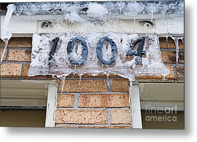 1004 Main Street Small Town Usa - Color Metal Print by Andee Design