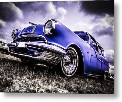 1955 Pontiac Safari Metal Print by motography aka Phil Clark