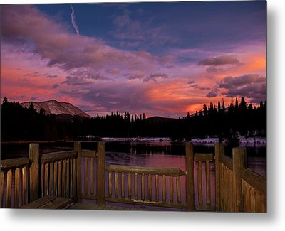 Sawmill Lake Sunset Metal Print by Michael J Bauer