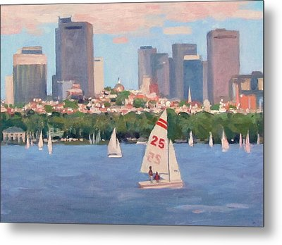 25 On The Charles Metal Print by Dianne Panarelli Miller