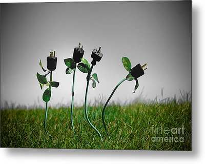 Growing Green Energy Metal Print by Amy Cicconi