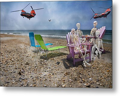 Search Party Metal Print by Betsy Knapp