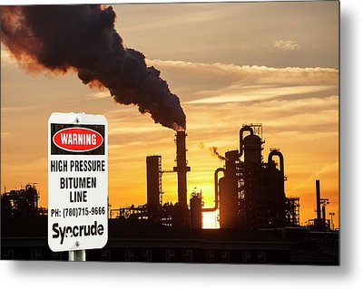 Syncrude Upgrader Plant Metal Print by Ashley Cooper