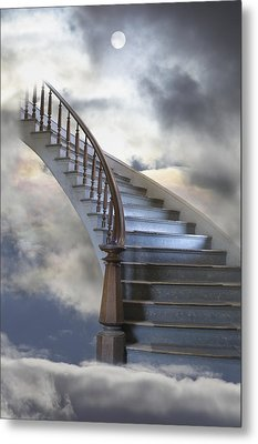 A Composite Entitled Staircase Metal Print by Robert Bartow