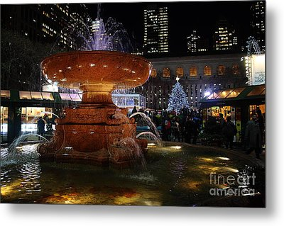 A Night In Bryant Park Metal Print by Nicholas Santasier