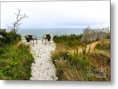 A Peaceful Respite By The Shore Metal Print by Michelle Wiarda