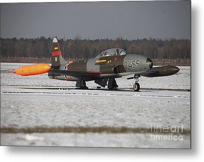 A T-33 Shooting Star Trainer Jet Metal Print by Timm Ziegenthaler