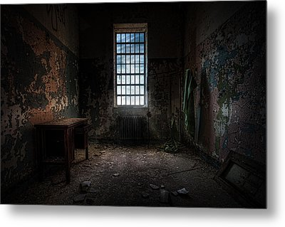 Abandoned Building - Old Room - Room With A Desk Metal Print by Gary Heller