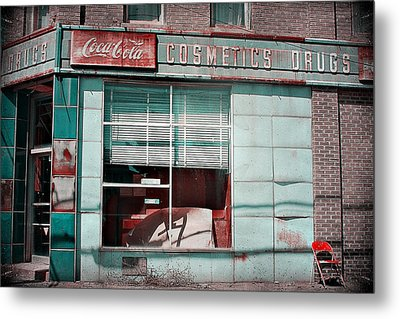 Abandoned Drug Store Metal Print by DeeLusions Photography