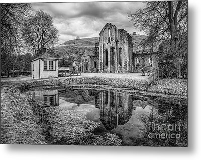 Abbey Reflections Metal Print by Adrian Evans