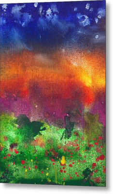 Abstract - Crayon - Utopia Metal Print by Mike Savad