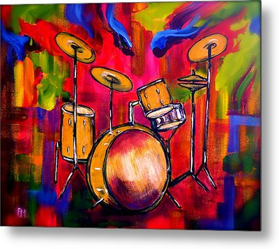 Abstract Drums II Metal Print by Pete Maier