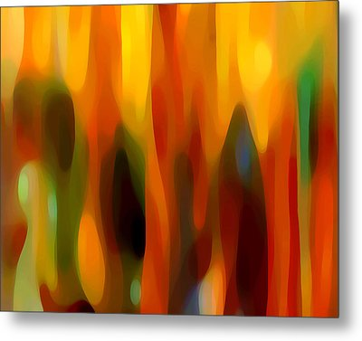 Abstract Forest Metal Print by Amy Vangsgard