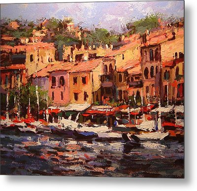 Afternoon In Cassis Metal Print by R W Goetting
