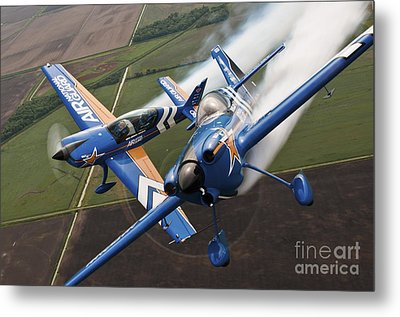 Airplanes Perform At The Sound Of Speed Metal Print by Stocktrek Images