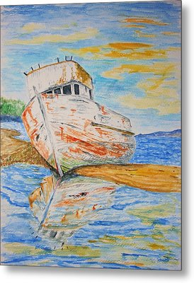 All Washed Up Metal Print by Paul Morgan