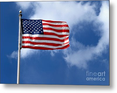 American Flag Metal Print by Amy Cicconi
