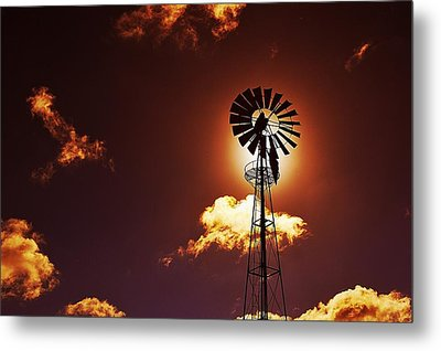 American Windmill Metal Print by Marco Oliveira