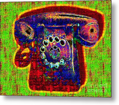 Analog A-phone - 2013-0121 - V2 Metal Print by Wingsdomain Art and Photography