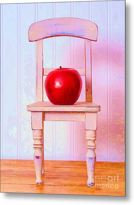 Apple Still Life With Doll Chair Metal Print by Edward Fielding