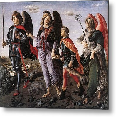 Archangels With Tobias Metal Print by Renaissance Master