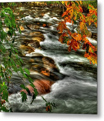 Autumn On The River Metal Print by Randy Hall