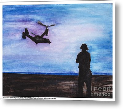 Back By Daybreak Metal Print by Sarah Howland-Ludwig
