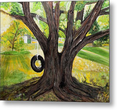 Backyard Tree Memories Metal Print by Susan Abrams