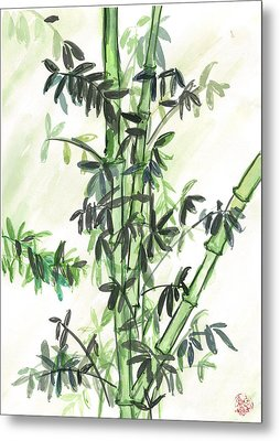 Bamboo Metal Print by Amberlyn How