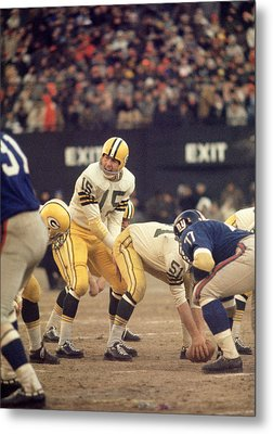 Bart Starr Calls Out The Snap Metal Print by Retro Images Archive