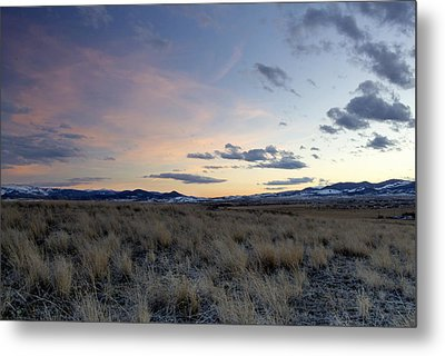 Beautiful Colors Of Sunset At The Reservoir Metal Print by Dana Moyer