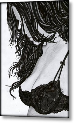 Beautiful Girl Metal Print by Saki Art