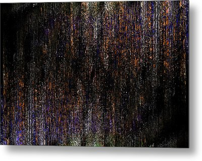 Behind The Curtain Metal Print by Christopher Gaston