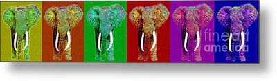 Big Elephant Six 20130201 Metal Print by Wingsdomain Art and Photography