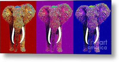 Big Elephant Three 20130201v2 Metal Print by Wingsdomain Art and Photography