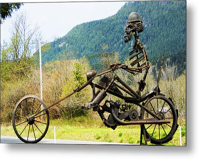 Biker Metal Print by Ron Roberts