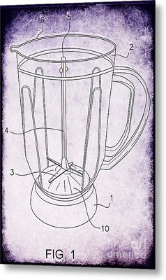 Blender Patent Metal Print by Edward Fielding