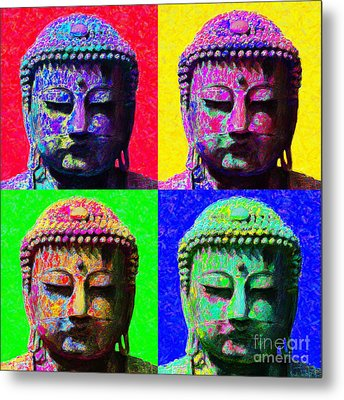 Buddha Four 20130130 Metal Print by Wingsdomain Art and Photography