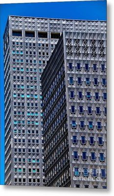 Buildings Downtown Pittsburgh Metal Print by Amy Cicconi