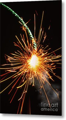 Burning Fuse Metal Print by Mike Agliolo