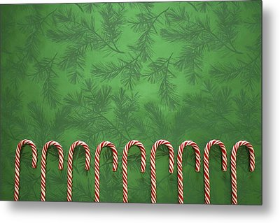 Candy Canes Metal Print by Colette Scharf