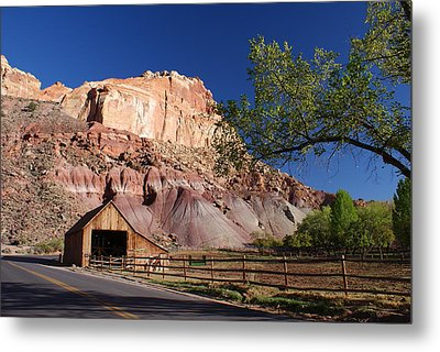 Capitol Reef Ranch Metal Print by Michael J Bauer
