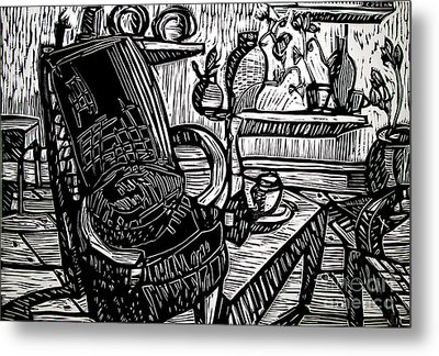 Chair Of My Dream Final Stage  Metal Print by Charlie Spear