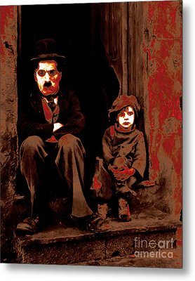 Charlie Chaplin 20130212-2 Metal Print by Wingsdomain Art and Photography