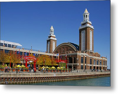 Chicago Navy Pier Headhouse Metal Print by Christine Till
