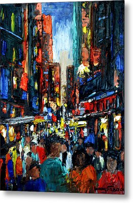 China Town Metal Print by Anthony Falbo